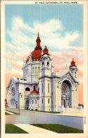 Minnesota St Paul The St Paul Cathedral Curteich - St Paul