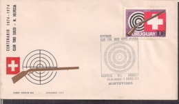 Uruguay - 1974 - Centenaire Du Swiss Shooting Club - Cygnus - Shooting (Weapons)