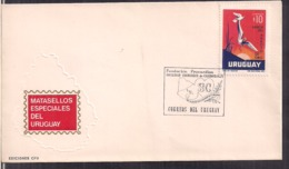 Uruguay - 1972 - Cachets Spéciaux - FDC - Société Uruguayenne De Cardiologie - Cygnus - Disease