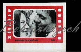 L9 231 CZECHOSLOVAKIA 1962 XIII. FFP Workers Film Festival WFF Movie Neschovavejte Se, Kdyz Prsi CSSR Don't Take Shelter - Matchbox Labels