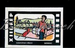 L9 232 CZECHOSLOVAKIA 1962 XIII. FFP Workers Film Festival WFF + Movie Pesti Háztetők Hungary On The Roofs Of Budapest - Matchbox Labels
