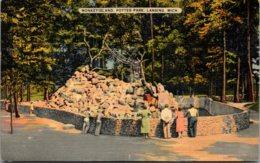 Michigan Lansing Potter Park Monkey Island 1944 - Lansing