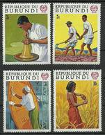 Burundi 1969 Mi 488-491 MNH ( ZS4 BUR488-491 ) - Agriculture