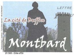MONTBARD COTE D OR - LE NATURALISTE BUFFON, LE CHATEAU, PAP ENTIER POSTAL FLAMME 2008, VOIR LES SCANNERS - Célébrités