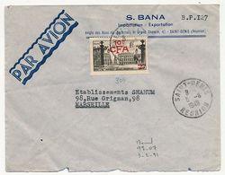 REUNION - Enveloppe Affr 10F/25f Place Stanislas - St Denis Réunion 5/8/1948 - Réunion (1852-1975)