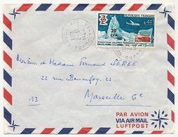 REUNION - Enveloppe Affr 20F/0,40 Expéditions Polaires - Hell Bourg Réunion 13/2/1969 - Réunion (1852-1975)