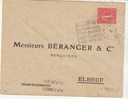 ESC OMEC Daguin Domfront Orne 1927 - Marcophilie (Lettres)