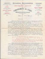 1922 -HUILERIE-SAVONNERIE - Spécialité Huiles D'Olives Et Huiles De Table -Etablissement CH. LESQUE - SALON-de-PROVENCE - 1900 – 1949
