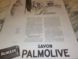 ANCIENNE PUBLICITE PLAIRE SAVON PALMOLIVE  1925 - Perfume & Beauty