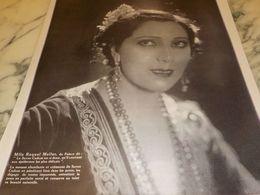ANCIENNE PUBLICITE SAVON CADUM  MLLE RAQUEL MELLER DU PALACE  1925 - Perfume & Beauty