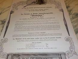 ANCIENNE PUBLICITE BROSSE A DENT DENTCLAIR  1925 - Perfume & Beauty