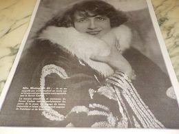 ANCIENNE PUBLICITE SAVON CADUM MLLE MISTINGUETT  NOUS DIT 1925 - Perfume & Beauty