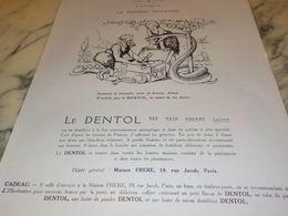 ANCIENNE PUBLICITE A TRAVERS LES AGES PREMIERE TENTATION DENTIFRICE DENTOL 1925 - Perfume & Beauty