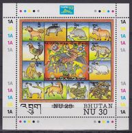 "Bhutan 1537 -  International Stamp Exhibition "" Taipei '93 "" 1993 M/S - MNH - Esposizioni Filateliche"