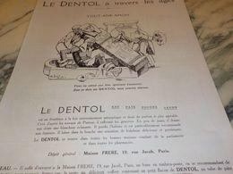ANCIENNE PUBLICITE A TRAVERS LES AGES TOUT ANK AMON  DENTIFRICE DENTOL 1925 - Perfume & Beauty