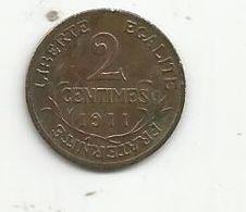 Monnaie, 2 Centimes Dupuis , 1911 ,2 Scans - B. 2 Centimes