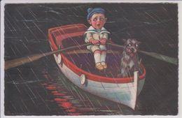 Illustrateur Colombo Humour Enfants Garçon Dans Une Barque - Colombo, E.