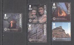 NW0039 2016 GIBRALTAR NATURE GORHAM'S CAVE UNESCO #1746-50 MICHEL 12 EURO SET MNH - UNESCO