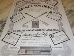 ANCIENNE  PUBLICITE SOIGNEZ VOS DENTS  DU DOCTEUR LENIEF 1925 - Perfume & Beauty
