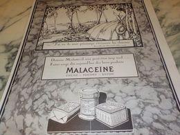 ANCIENNE PUBLICITE J AI VU LE PRINTEMPS  CREME MALACEINE 1925 - Perfume & Beauty