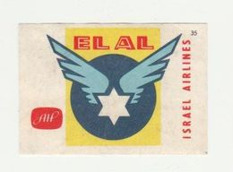 Lucifermerk Albert Heyn: 35) ELAL Israel Airlines - Matchbox Labels