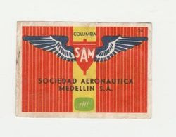 Lucifermerk Albert Heyn: 24) SAM Sociedad Aeronautica Medellin S.a. Columbia - Matchbox Labels