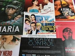 11 Plaquettes De Présentation Films : Alias Maria/À Peine J'ouvre Les Yeux/Chemin De Croix/L'ordre & La Morale/The Rose/ - Merchandising