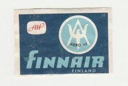 Lucifermerk Albert Heyn: 33) AERO Oy Finnair Finland (SF) - Matchbox Labels