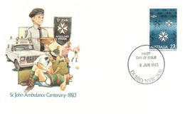 (D 14) Australia FDC / Premier Jour - St John Ambulance (2 Covers) With Special Overprint Order Of St John - First Aid
