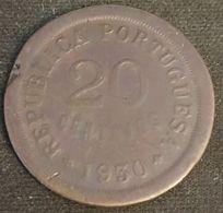 CAP VERT - CABO VERDE - 20 CENTAVOS 1930 - KM 3 - Kaapverdische Eilanden