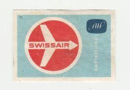 Lucifermerk Albert Heyn: 11) Swissair Zwitserland-suisse-schweiz (CH) - Matchbox Labels