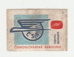 Lucifermerk Albert Heyn: 12) Ceskoslovenké Aeroline Tsjecho-slowakye (CS) - Matchbox Labels