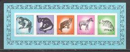 NW0210 IMPERF 1972 AJMAN ANIMALS & FAUNA MICHEL BL526B 1BL MNH - Kennedy (John F.)
