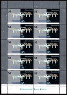 2004 Germania, Stazione Spaziale ISS , Serie Completa Nuova (**)  Minifoglio Da 10 Francobolli, Al Facciale - [7] Federal Republic