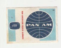 Lucifermerk Albert Heyn: 30) PAN AM Pan American World Airways - Matchbox Labels