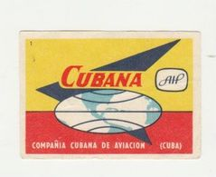 Lucifermerk Albert Heyn: 1) CUBANA Compañia Cubana De Aviacion Cuba - Matchbox Labels