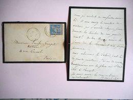 LETTRE ECRITE ET SIGNATURE AUTOGRAPHE DE ATHENAIS MARGUERITE MICHELET VELIZY A EMILE GOUGET Au Sujet De MIRABEAU 1888 - Autógrafos