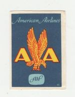 Lucifermerk Albert Heyn: 45) AA American Airlines - Matchbox Labels