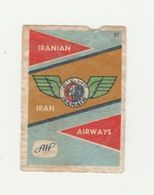 Lucifermerk Albert Heyn: 37) IRANAIR Iranian Airways Iran - Matchbox Labels