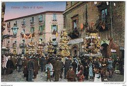 CATANIA:  FESTA  DI  S. AGATA  -  TRACCIA  DI  INCOLLAGGIO  -  FP - Thanksgiving