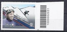 Italia / Italien 2020 Zeno Colò Con Codice A Barre/ Postfrisch Mit Strichkode - Bar-code