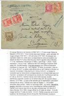 GANDON 4FR BISTRE + N°676 LETTRE NIORT 11.V.1949 POUR ST LIGUAIRE DEUX SEVRES + RETOUR ENVOYEUR 8361+ TAXE 20FR+10FRX2 - Marcophilie (Lettres)