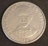 REPUBLIQUE DOMINICAINE - 25 CENTAVOS 1981 - KM 51 - Dominican Republic - Dominicana