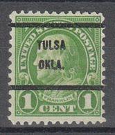 USA Precancel Vorausentwertung Preo, Bureau Oklahoma, Tulsa 632-61 - Vereinigte Staaten