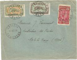 CAMEROUN 45C+1C+4C LETTRE COVER EBOLOVA 12 DEC 1934 POUR LE NORD - Kamerun (1915-1959)