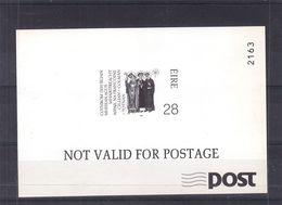 Irlande - BF De 1989 ** - Impression En Noir - Religieux - Saints - Nuovi