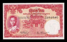 Tailandia Thailand 100 Baht 1955 Pick 78d Sign 41 EBC/+ XF/+ - Thaïlande