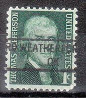 USA Precancel Vorausentwertung Preo, Locals Oklahoma, Weatherford 841 - Estados Unidos