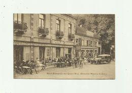 BELGIQUE - TERVUREN - Hotel Restaurant Des Quatre Bras ( Ets Ledent ) Belle Animation  Auto Cyclistes - Tervuren