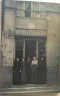 Carte-photo,, Devanture (animée, Avec Personnel) Agence Postes Et Télégraphe, 10 Rue Ferrère 33 Bordeaux-Gironde - Bordeaux